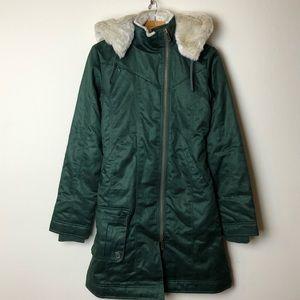 Hoodlamb Hemp Vegan Long Coat Green XS Ladies